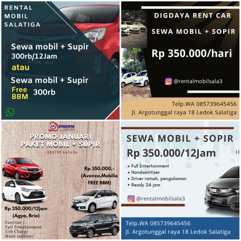 Rental Mobil Salatiga Tarif Mulai 300rb 12jam Supir Wa 085739645456